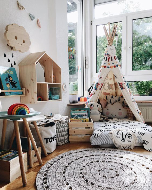 Reading Nooks Ideas: Boho-corner-reading-nook-ideas