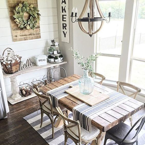 25 calmness dining room with farmhouse style and vintage for Dining room ideas 2017