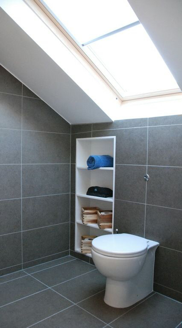 35 smart diy storage ideas for tiny bathroom home design for Bathroom ideas loft conversion