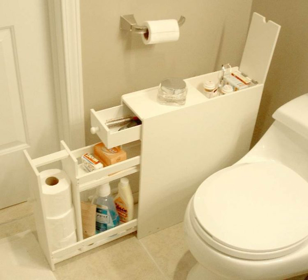 35 smart diy storage ideas for tiny bathroom home design - Clever small bathroom designs ...