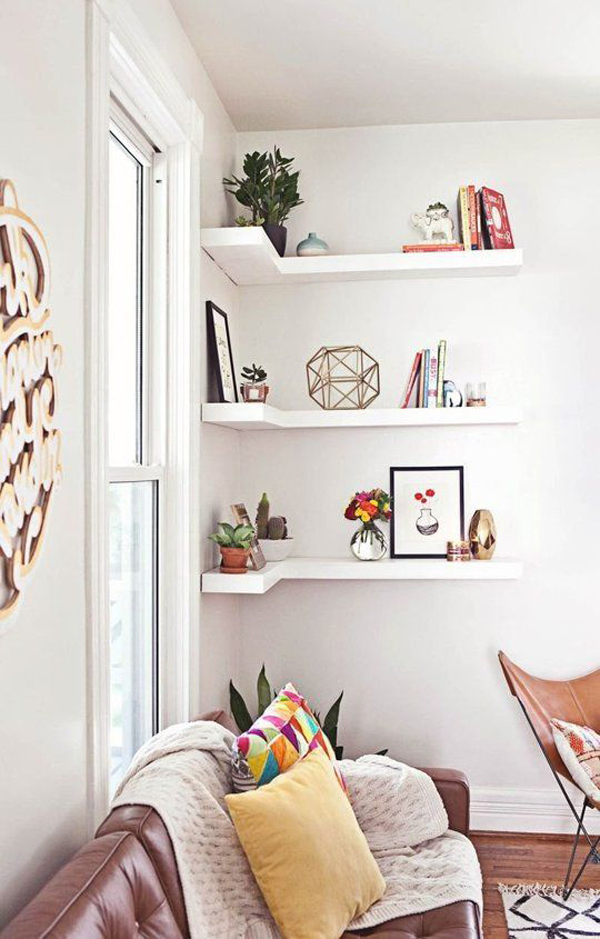 Easy DIY Corner Shelves With Extra Storage Home Design And Interior