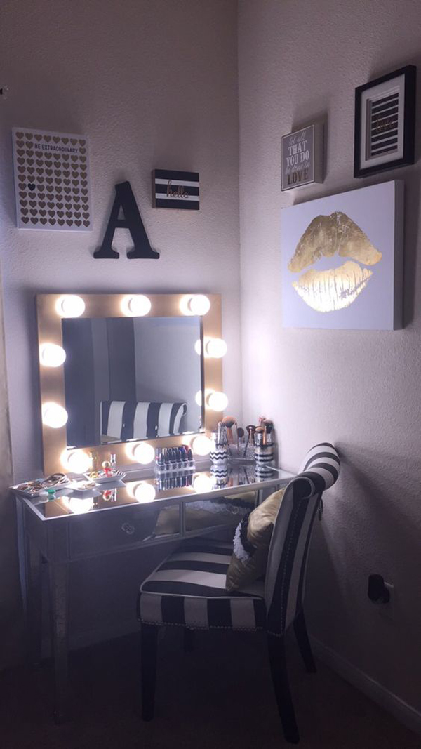 20 Modern DIY Makeup Organizers With Romantic Feel | Home ... on Make Up Room Design  id=55333