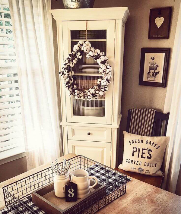 25 Dining Room Cabinet Designs Decorating Ideas: 25 Calmness Dining Room With Farmhouse Style And Vintage