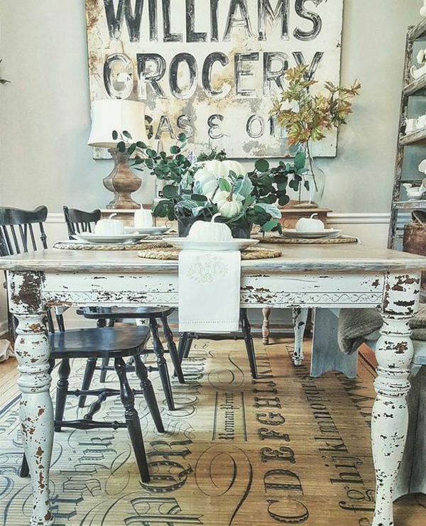 30 Ways To Create A Trendy Industrial Dining Room: 25 Calmness Dining Room With Farmhouse Style And Vintage
