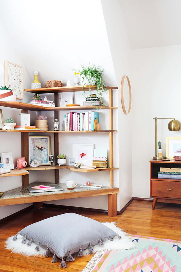 easy diy corner shelves with extra storage home design
