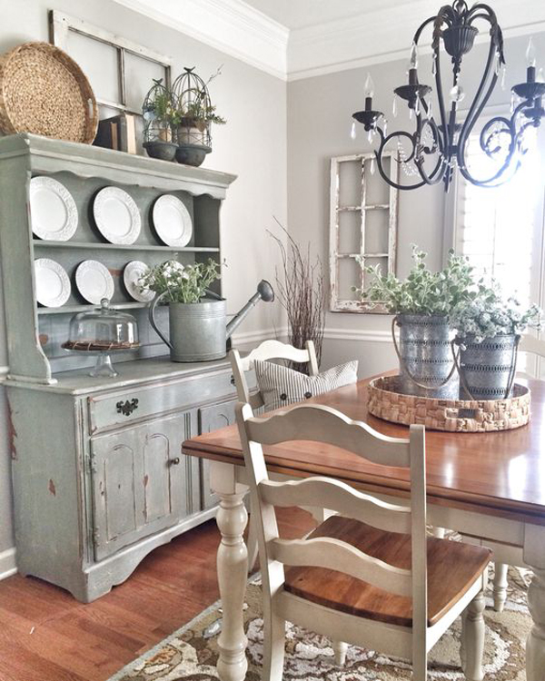 25 calmness dining room with farmhouse style and vintage for Best farmhouse dining rooms