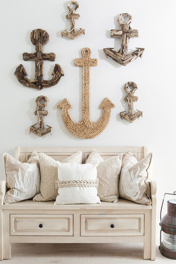 20 coastal decorating ideas with rope crafts home design for Coastal wall decor ideas