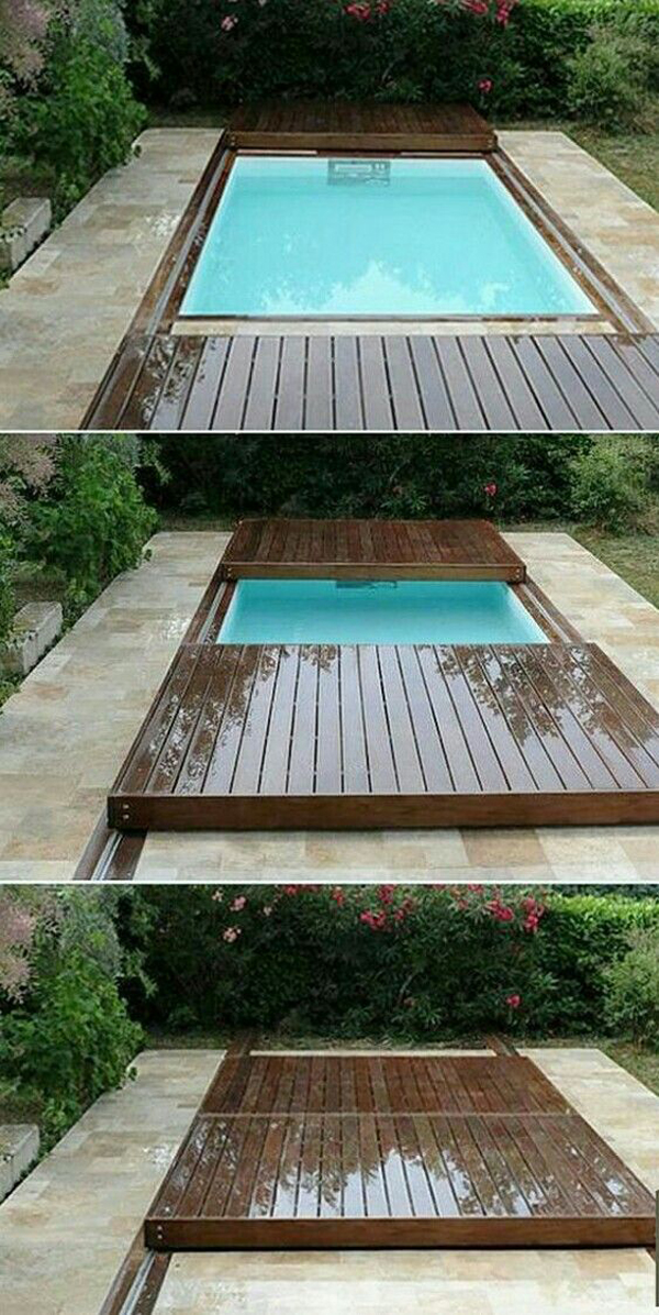Unique And Functional Rolling Deck For Your Pools Home