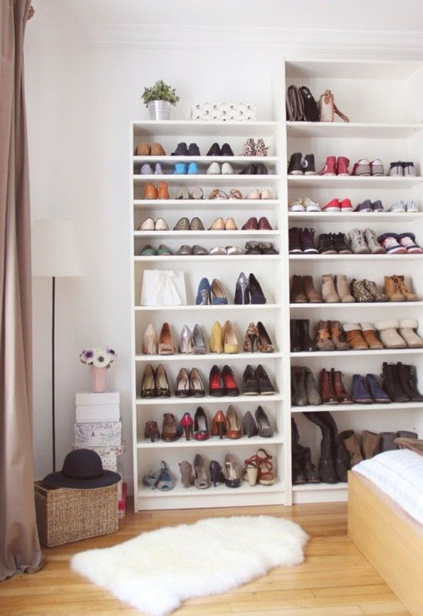 Bedroom Storage Bookshelves