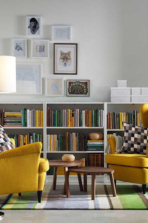 Room Designer Ikea: 20 Simple IKEA Billy Bookcase For Limited Space