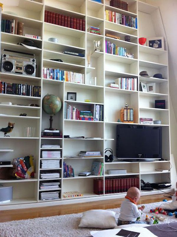 20 simple ikea billy bookcase for limited space home for Ikea closed bookcases