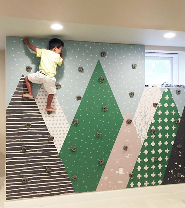 Kids Rooms Climbing Walls And Contemporary Schemes: 25 Fun Climbing Wall Ideas For Your Kids Safety