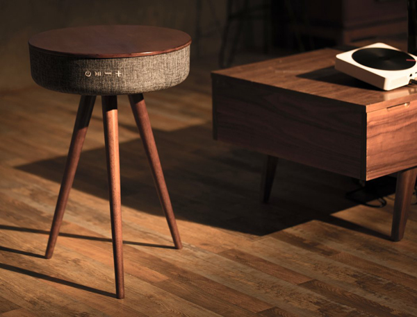Mellow cool and functional multimedia table home design for Functional side table