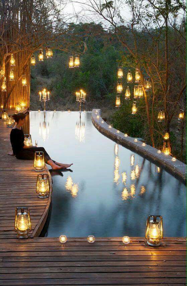 15 amazing outdoor pool with lighting ideas home design and interior they will make your pool look amazing and you can swim with them heres a pool lighting ideas that will make the time outside feel more fun get inspired mozeypictures Choice Image