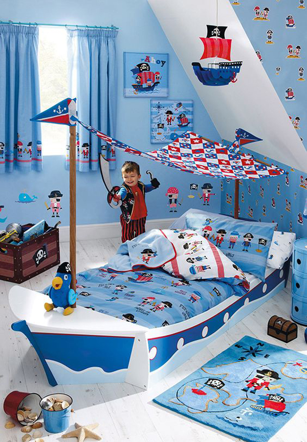20 pirate themed bedroom for your kids adventure home for Boys pirate bedroom ideas
