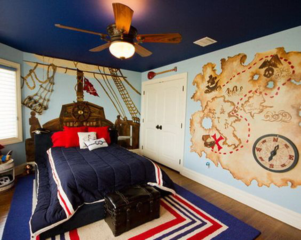 pirate bedroom.  kids bedroom ideas with pirate theme that we are considering for our room later get ready to go adventure your kid and you sail 20 Pirate Themed Bedroom For Your Kids Adventure Home Design And