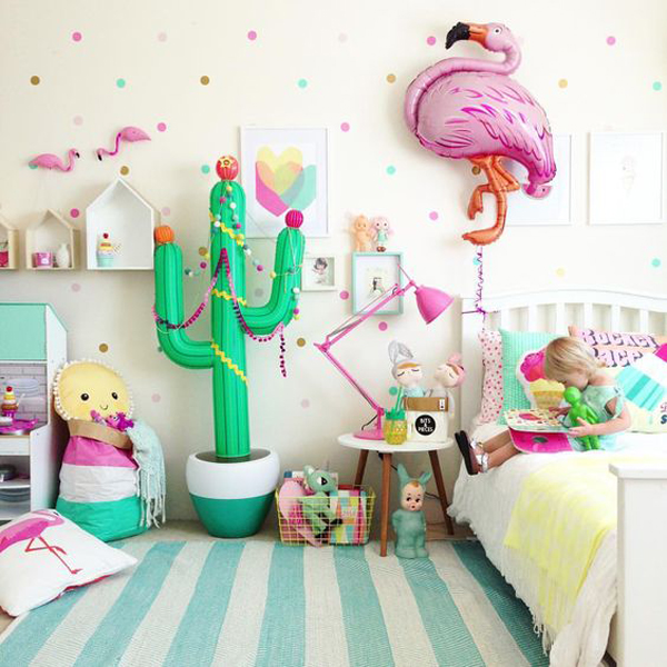 Colorful Kids Room Design: 20 Gorgeous Cactus Trends For Kids Room