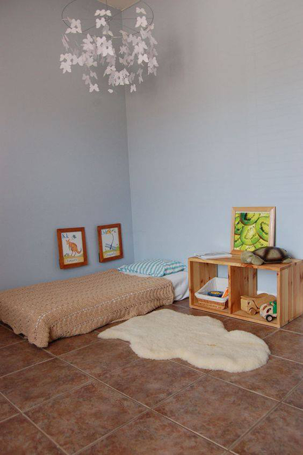 15 safe and cozy kids floor bed ideas home design and - Bedroom with mattress on the floor ...