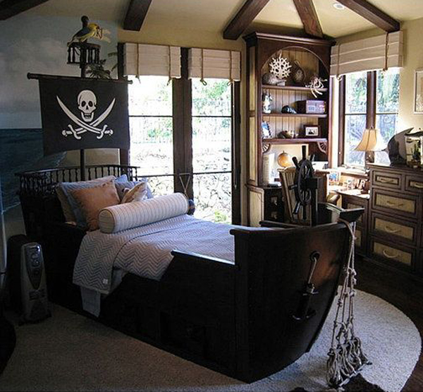 Boys Pirate Bedroom: 20 Pirate Themed Bedroom For Your Kids Adventure