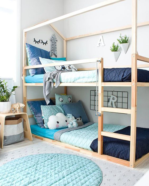 Double Kids Floor Bunk Beds