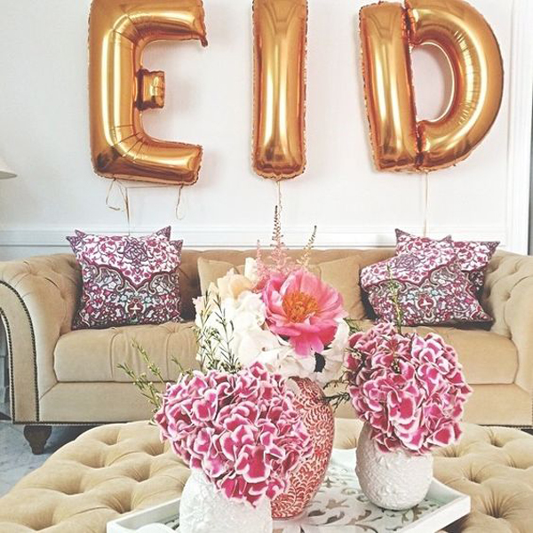 Freebie eid decor in living room for Ramadan decorations home