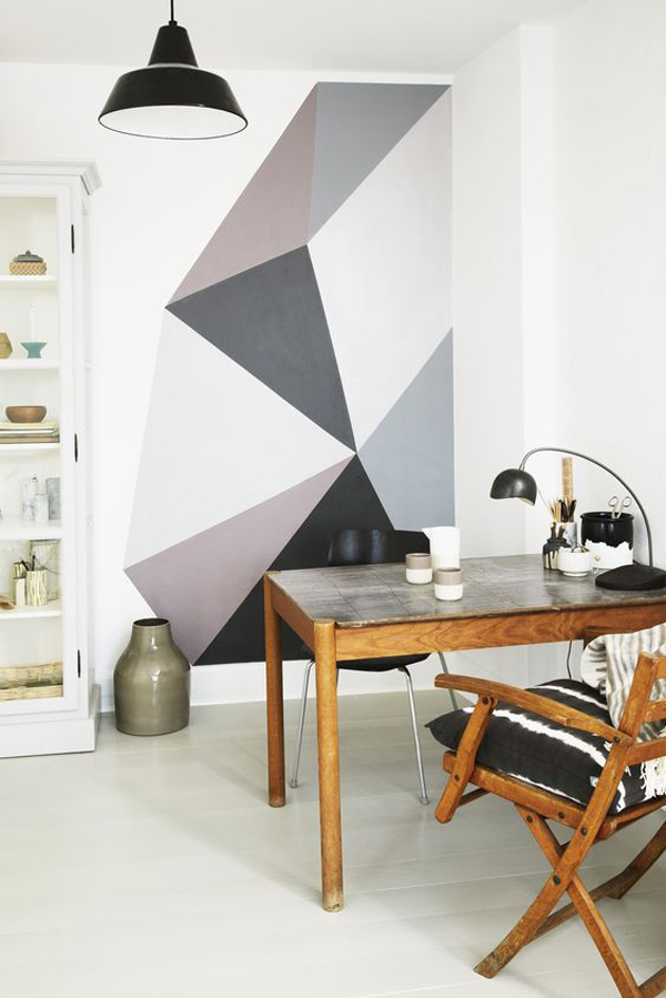 20 Awesome Geometric Walls With Vibrant Colors | HomeMydesign