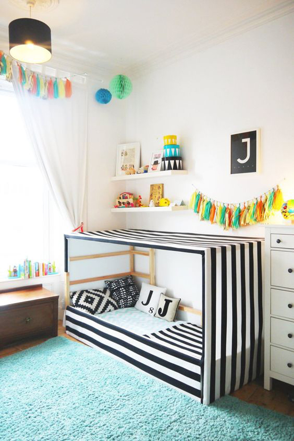 Modern Kids Bedroom With Floor Bed Ideas Home Design And Interior
