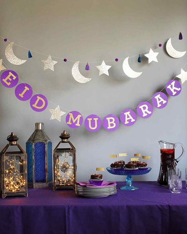 20 awesome ramadan and eid mubarak decorations home for Ramadan decorations home