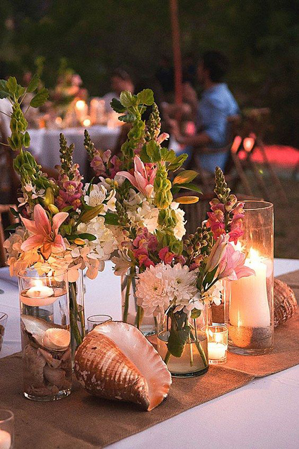 Rustic Beach Wedding Centerpieces Home Design And Interior