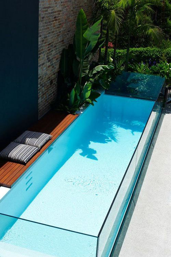 25 outdoor narrow pools for limited spaces home design for Swimming pool design xls