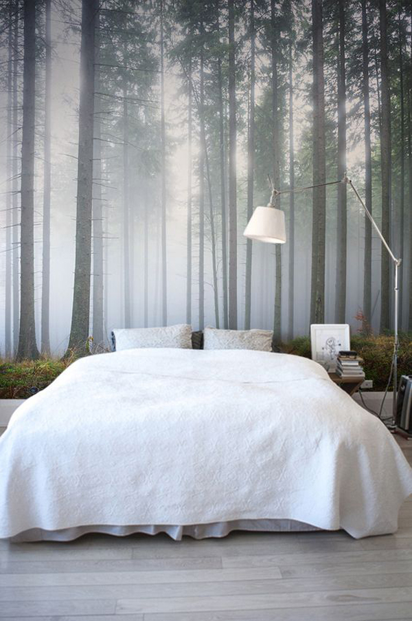 Stunning Forest Bedroom Wall Murals