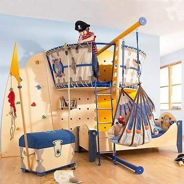 20 pirate themed bedroom for your kids adventure home for Kids pirate room