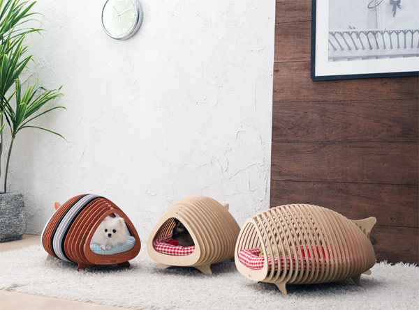 Unique Plywood Dog House With Fishbone Inspired | Home Design And ...