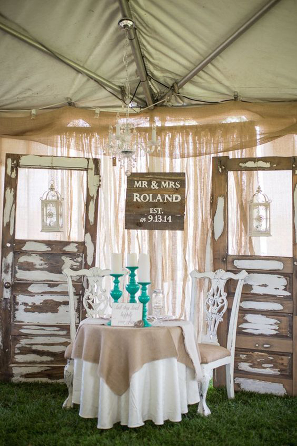 Wood-country-wedding-table-ideas