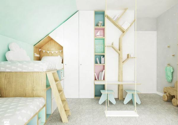 cheerful-kids-swing-bedroom-decor