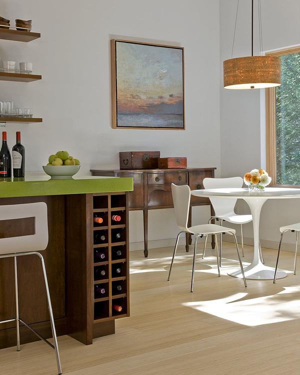 dark-wood-kitchen-island-with-wine-storage | Home Design And ...