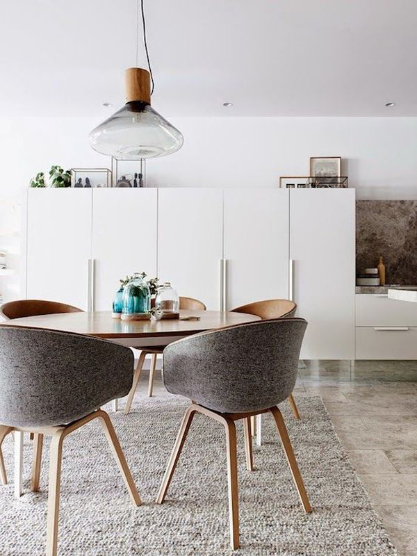 Retro Modern Round Dining Table Style Home Design And Interior