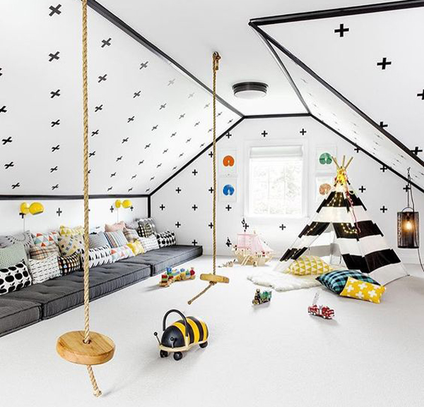 20 Cheerful Indoor Swing For Kids Space | Home Design And Interior