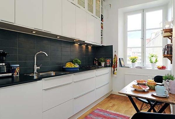 25 cozy and minimalist scandinavian kitchen ideas home for Scandinavian kitchen backsplash