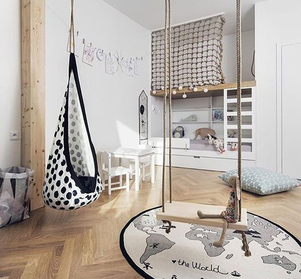 20 Cheerful Indoor Swing For Kids Space Home Design And