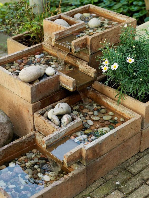 20 Crafty DIY Rain Features For Your Gardens | HomeMydesign