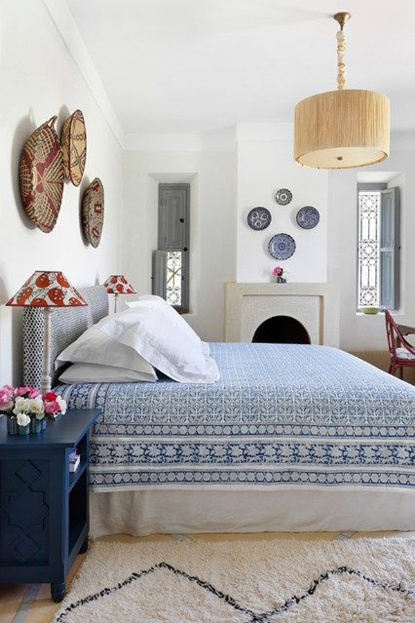 Blue And White Moroccan Bedroom Ideas
