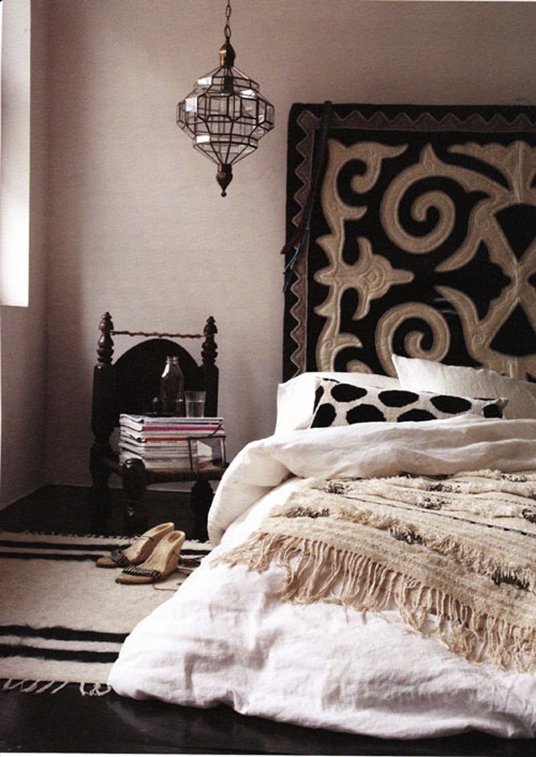 . dark modern moroccan bedroom design   Home Design And Interior