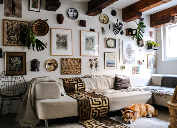 Artistic House With Original Kenyan Crafts Home Design And