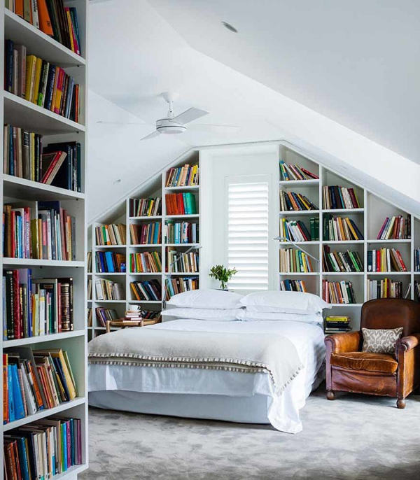 20 Awesome Bedroom Library Decor Ideas