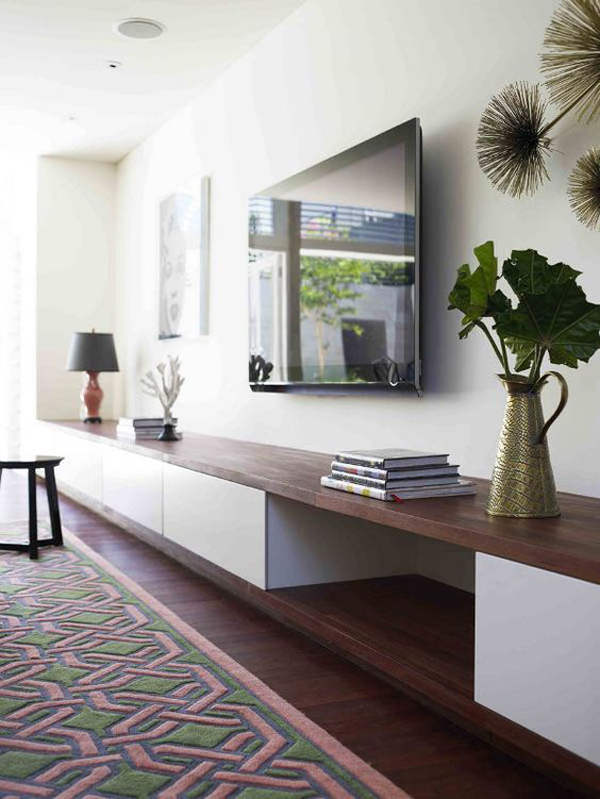 If you are interested to decorate it, here I give 20 galleries inspiring TV  wall, let's check it out!