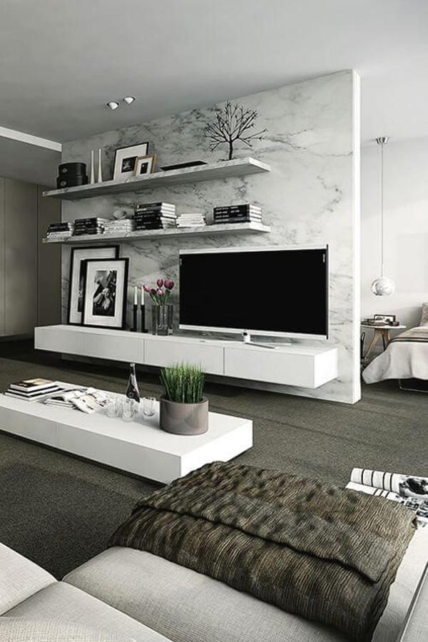 20 Modern And Minimalist TV Wall Decor Ideas | HomeMydesign