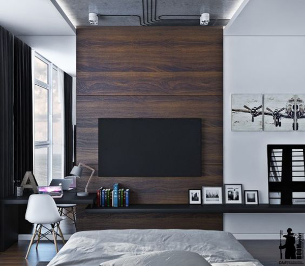 Minimalist Interior Design Bedroom Bedroom Cabinet Design Images Bedroom Sets Images Bedroom Themes: 20 Modern And Minimalist TV Wall Decor Ideas