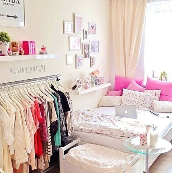 pretty-small-bedroom-with-walk-in-closet | Home Design And ...
