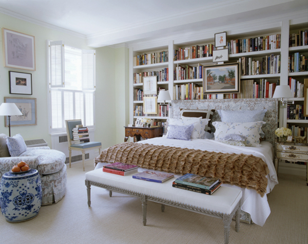 stylish library bedroom decoration